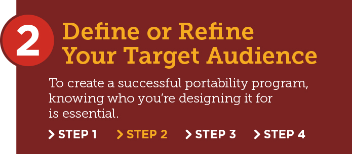 Portability Adoption Step 2: Define or refine your target audience