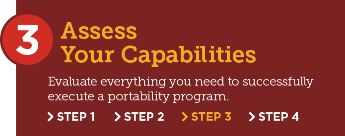 Portability Adoption Step 3: Assess your capabilities