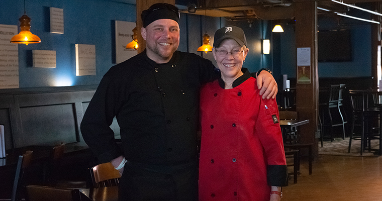 Chef Scotty with Mom