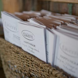 Menus made of paper