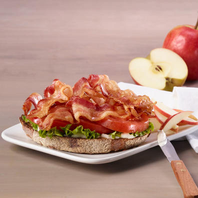 BLT sandwich with extra bacon
