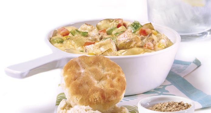 Chicken Stew and Biscuits Healthcare Foodservice Recipe