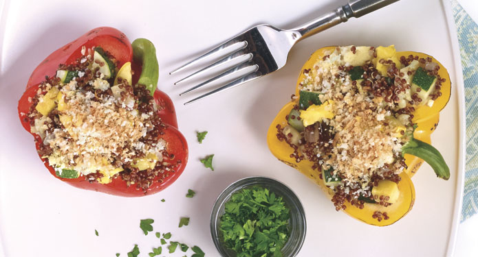 Red Quinoa Stuffed Peppers Healthcare Foodservice Recipe